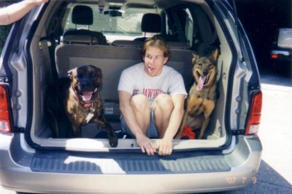 Jim and dogs
